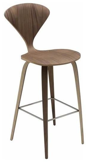 Satine Bar Stool Natural Walnut Modern Bar Stools And  : modern bar stools and counter stools from www.houzz.com size 292 x 549 jpeg 21kB
