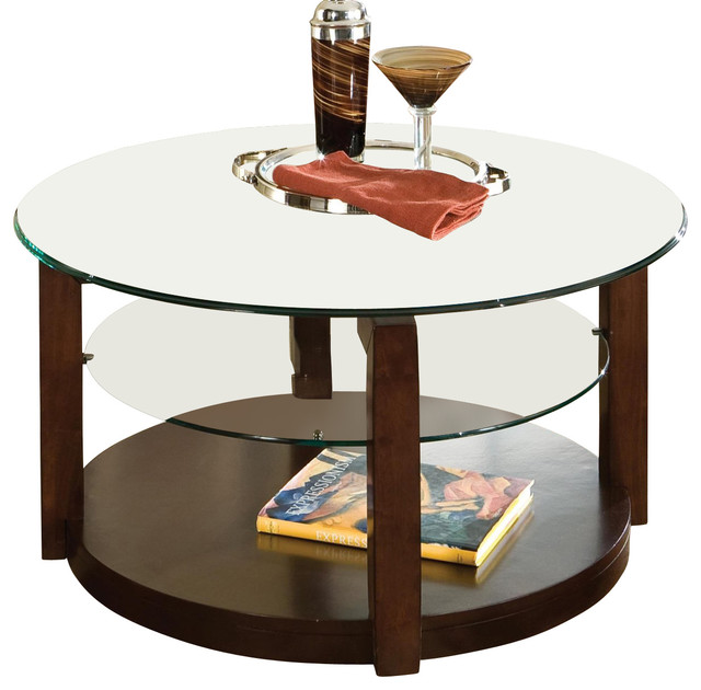 Coronado 36 Inch Cocktail Table In Cherry Traditional Coffee Tables