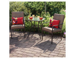 Furniture outdoor upholstered chairs and accent table  armchairs