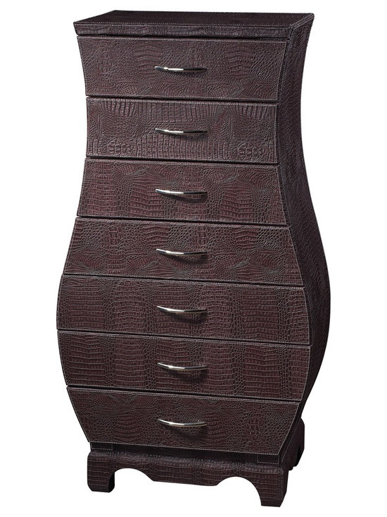 Chocolate Croc Chest of Drawers - StudioLX