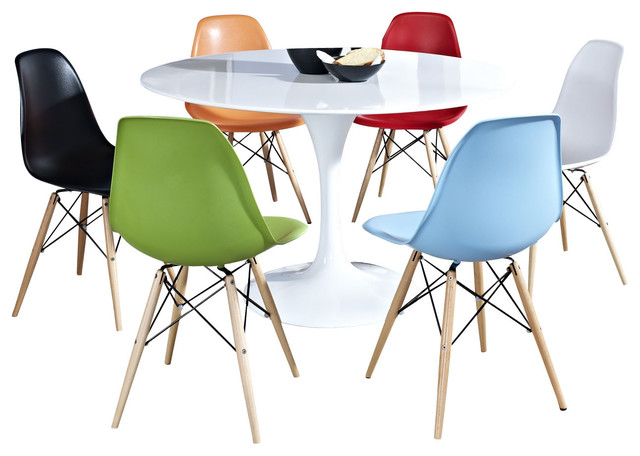 Lippa 7-Piece Dining Set in Multicolored modern-dining-sets