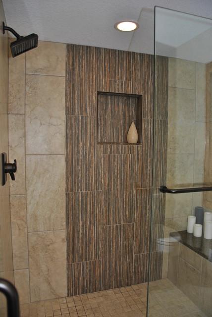 Unique Master Bathroom Renovation Transitional