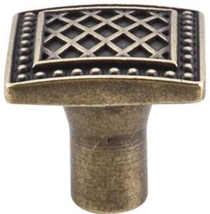 "Trevi Square Knob 1 1/4"" - German Bronze modern-cabinet-and-drawer-knobs"