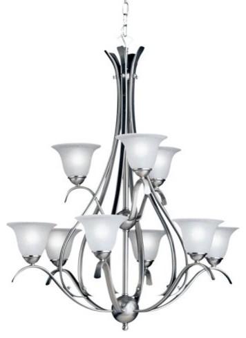 Kichler Dover Chandelier - 29W in. Brushed Nickel contemporary-chandeliers