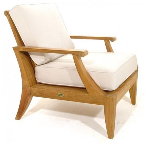 Laguna Teak Lounge Chair Modern Outdoor Lounge Chairs