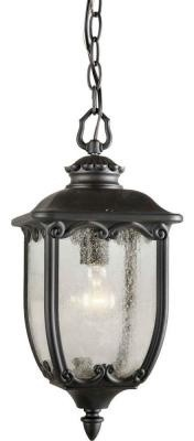 Illumine Outdoor Lighting. 1-Light Outdoor Post Black Finish Clear Seeded Glass contemporary-post-lights