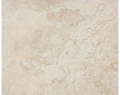 Vanilla | Eco-Tuscany | Eleganza | 20x20 Travertine-Look Porcelain Tile traditional-floor-tiles
