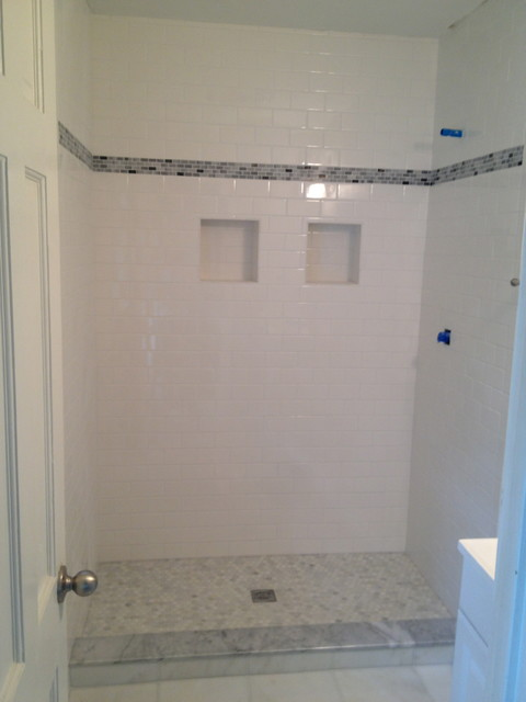 custom shower stall bathroom