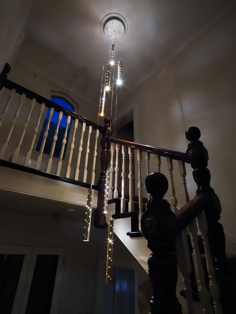 Heavy Rain. Large Light Drops. contemporary-chandeliers