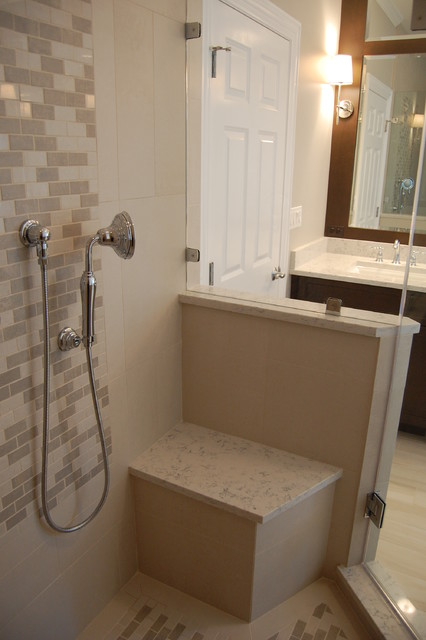 Transitional bath with wainscoting for Bathrooms with wainscoting photos