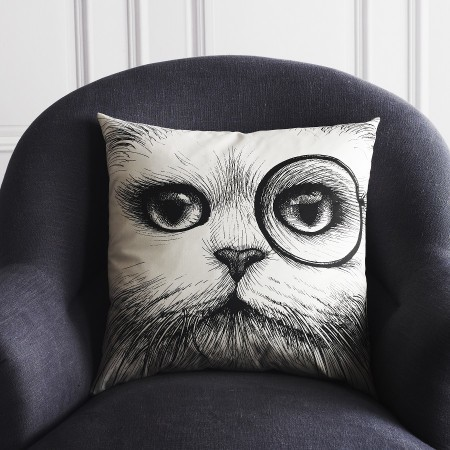 Monocle Cat Cushion by  Rory Dobner contemporary-decorative-pillows