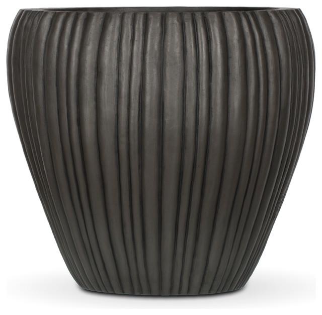 AuthenTEAK Lightweight Fiberglass Planters modern-outdoor-pots-and-planters