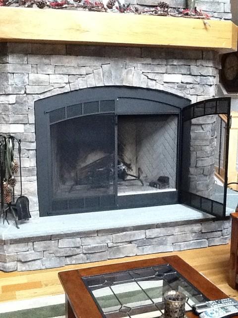 Arch zc prefab fireplace screen open fireplace screens other metro by - Houzz fireplace screens ...