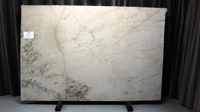 White Macauba Cross Cut Quartzite
