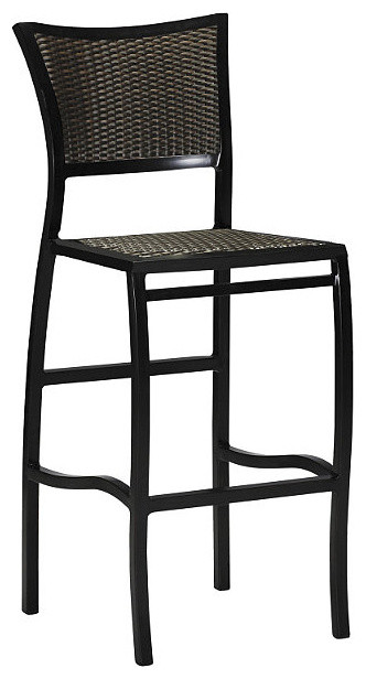Aire Outdoor Bar Stool with Cushion Patio Furniture  : traditional outdoor stools and benches from houzz.com size 332 x 616 jpeg 41kB