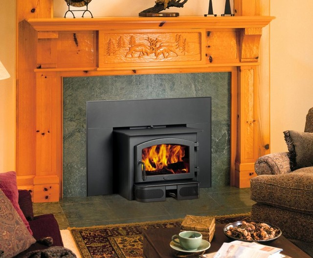 Lopi republic 1750i wood insert traditional indoor for Fireplace inserts seattle