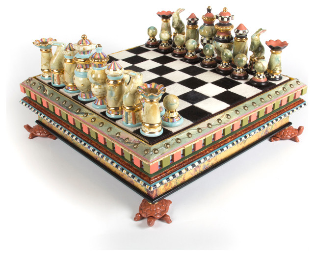 Chess Set | MacKenzie-Childs eclectic-home-decor