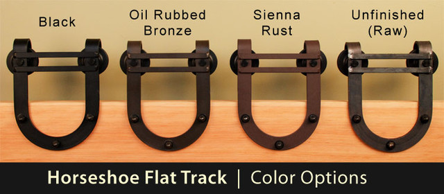 Horseshoe Sliding Barn Door Hardware - Rustic - by Real Sliding Hardware