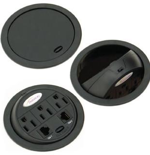 PowerTap Grommet Pop-up Power Data Center - Contemporary - Cable Management - miami