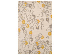 Surya Gramercy Parchment Rectangle Area Rug contemporary-rugs
