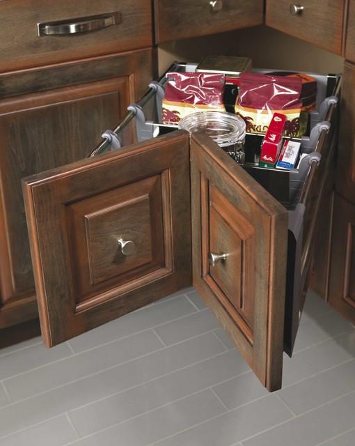 CUSTOM CORNER KITCHEN DRAWER CABINET traditional-kitchen-cabinetry
