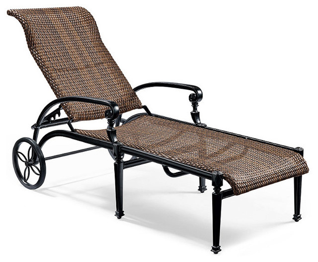 Carlisle Woven Outdoor Chaise Lounge Patio Furniture Traditional Outdoor