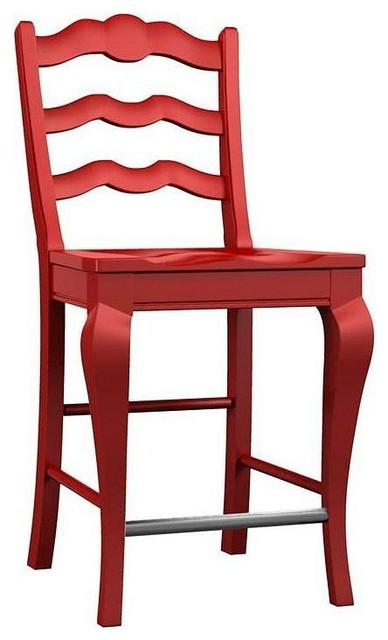 Broyhill Furniture - Ladder Back Counter Stool (Set of 2) - 5214-303 - Traditional - Bar Stools ...