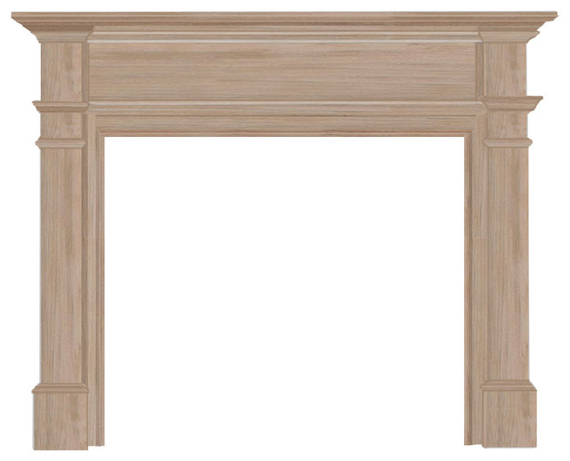 "The Windsor Fireplace Surround, Unfinished, 48"" contemporary-fireplace-mantels"