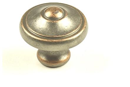 "Century Hardware Zinc Die Cast, Knob, 1-3/16"" dia. Weathered Nickel/Copper modern-cabinet-and-drawer-knobs"