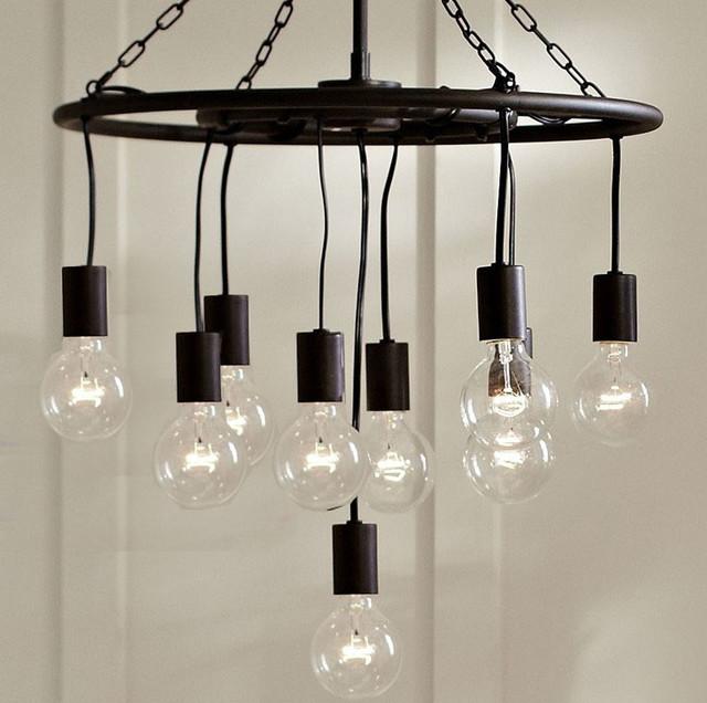 Antique Country Bulbs Iron Chandelier Farmhouse