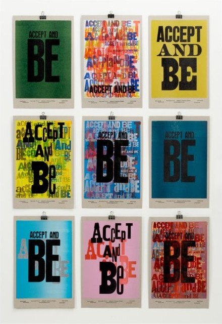 Accept and Be Poster modern-prints-and-posters