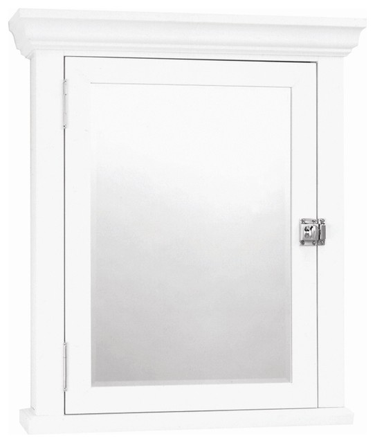White Crown Pediment Swing Door Medicine Cabi - Contemporary - Medicine Cabinets - by ShopLadder