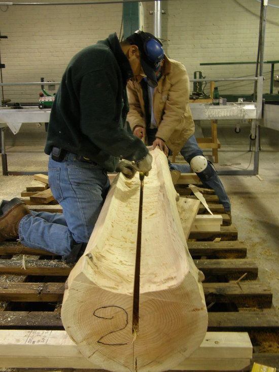 Bark House® Millwork & Mouldings - Cleaning out spline slot for weather-proof joint.