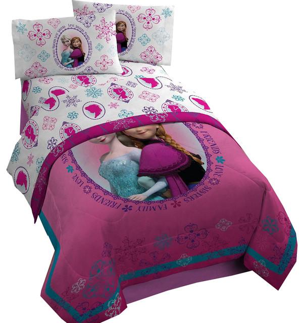 Disney Frozen Twin Full Comforter Anna Elsa Snowflakes Bed