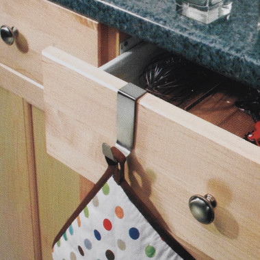 Forma Over-the-Cabinet Single Hook modern cabinet and drawer organizers
