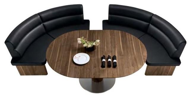 Salita round dining table woessner dining tables miami - Rundbank esszimmer ...
