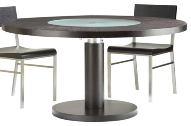 """Round Glass Dining Table 48 Inches: Force 48"""" Round Glass Top Dining Table By Allan Copley"""