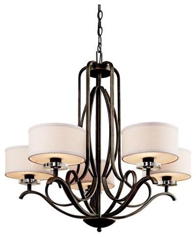 Kichler Leighton 42476OZ Chandelier - 31 in. - Olde Bronze contemporary-chandeliers