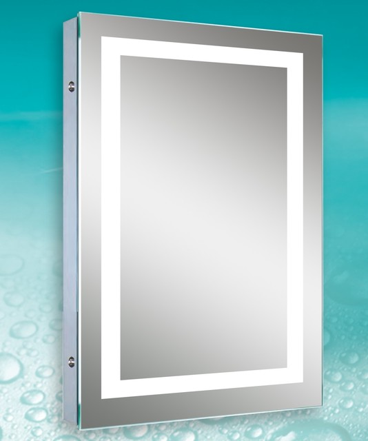 image led bordered illuminated mirror contemporary bathroom mirrors