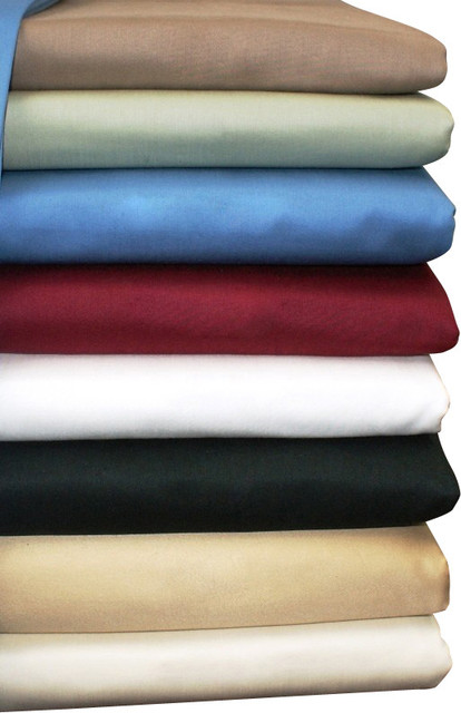 600TC Solid Egyptian Cotton Bed Sheet Sets traditional-sheets