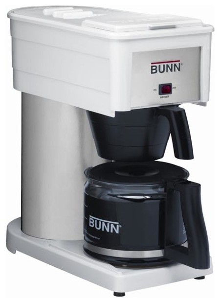 Bunn bxw white 10 cup velocity home coffee brewer for Bunn phase brew 8 cup coffee brewer