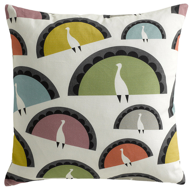 Cushion: Peacocks mediterranean pillows