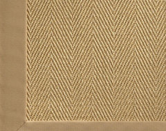 Chevron Sisal with Cotton Border Rug traditional-rugs