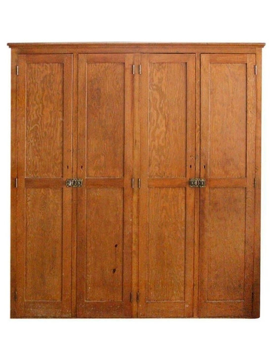 Pre-owned Antique Wooden Pine High School Locker - Storage extraordinaire in this classically-simple antique school locker that hails from a Minnesota high school. Perfect for a hallway or living room.