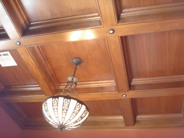 Coffered Ceiling Detail Home Office New Orleans