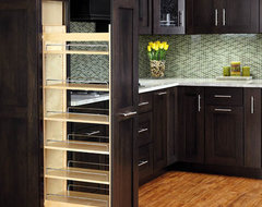 Pullout Wood Pantry traditional