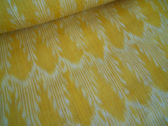 Ikat Natural Fabric fabric
