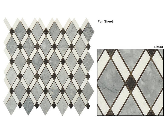 Diamond stone mosaic - Marble diamond interlocking mosaic