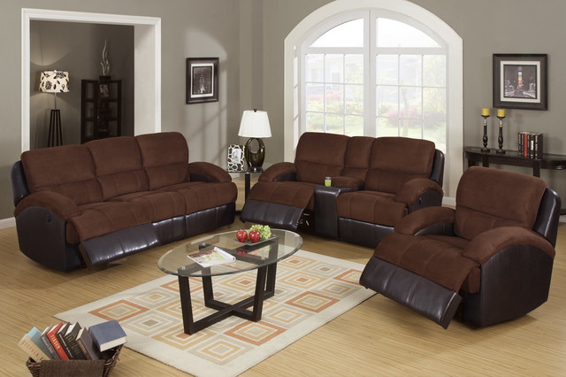 Chocolate microfiber leather reclining sofa loveseat power motion set contemporary sofas Microfiber sofa and loveseat set