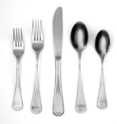 Set Includes:4 dinner forks4 salad forks4 dinner spoons4 teaspoons4 dinner knive contemporary flatware